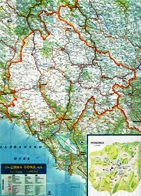 Road Map of Montenegro