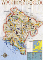 Map of Montenegro tourist