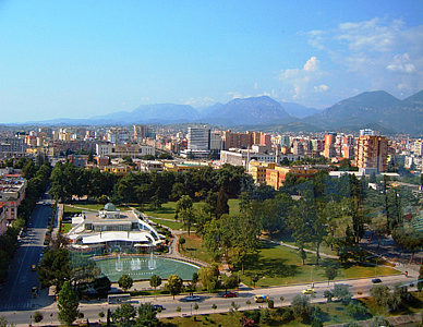 View from Sky Tower, Tirana