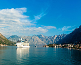 Cruise ship in Kotor