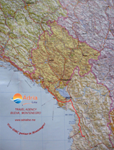 Excursion map - Albania