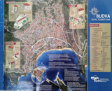 Budva - City map
